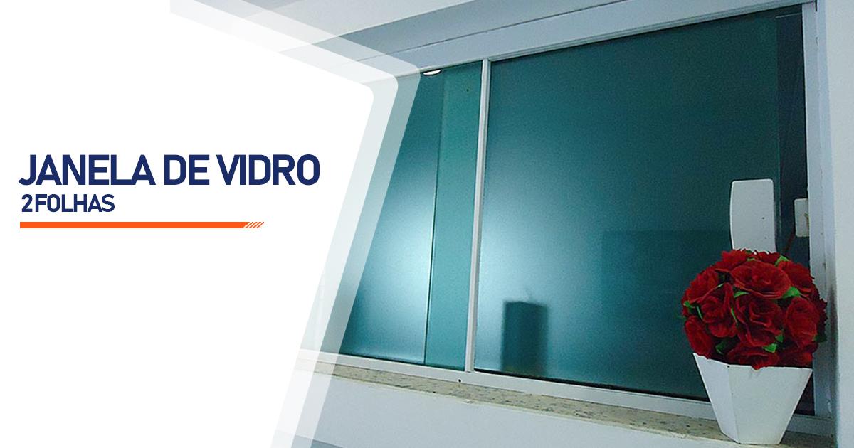 Janela De Vidro 2 Folhas