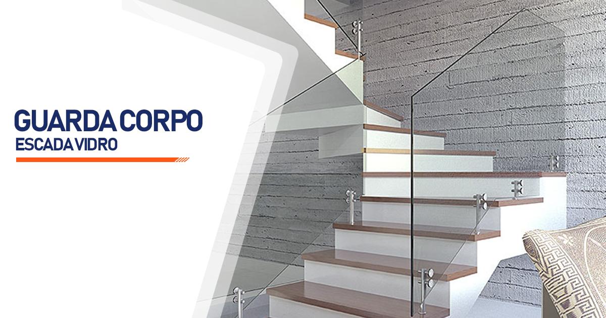 Guarda Corpo Escada Vidro  São Paulo