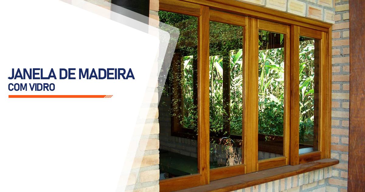 Janela De Madeira Com Vidro São Paulo