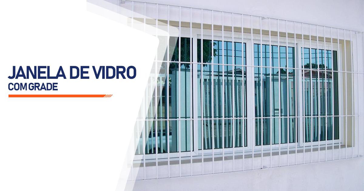 Janela De Vidro Com Grade São Paulo