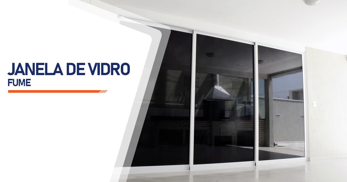 Janela De Vidro Temperado Fume São Paulo
