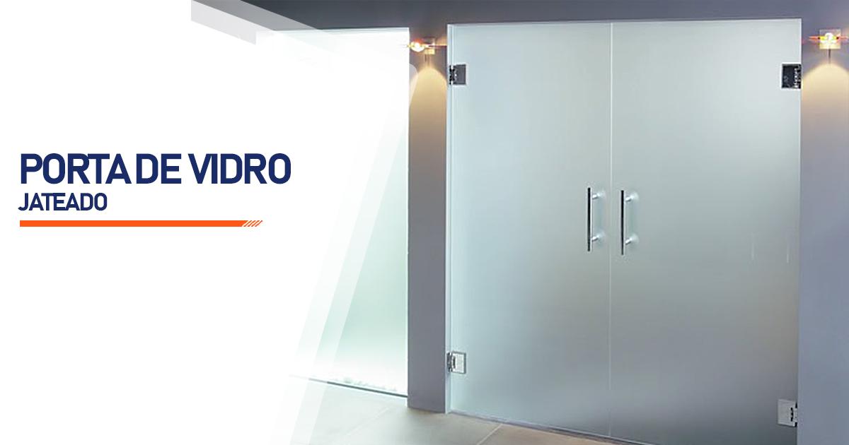 Porta De Vidro Jateado São Paulo