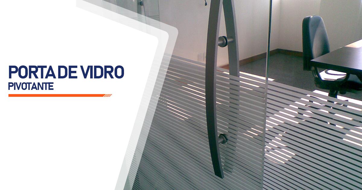 Porta Pivotante De Vidro São Paulo