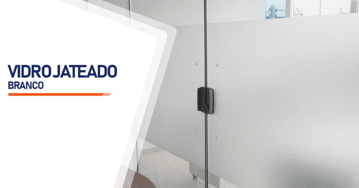 Vidro Jateado Branco São Paulo