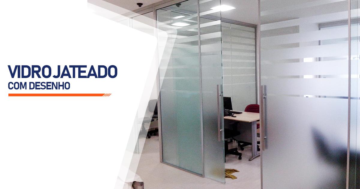 Vidro Jateado Com Desenho São Paulo